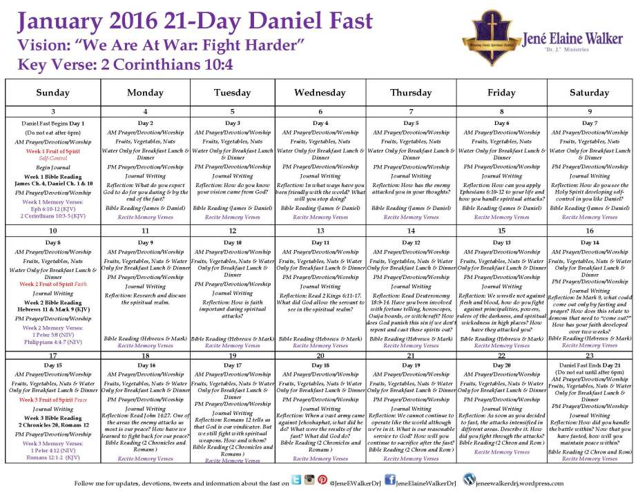 Why Are You Fasting (Fasting Calendar Included) by Dr.J. 2016 Daniel Fast Post5