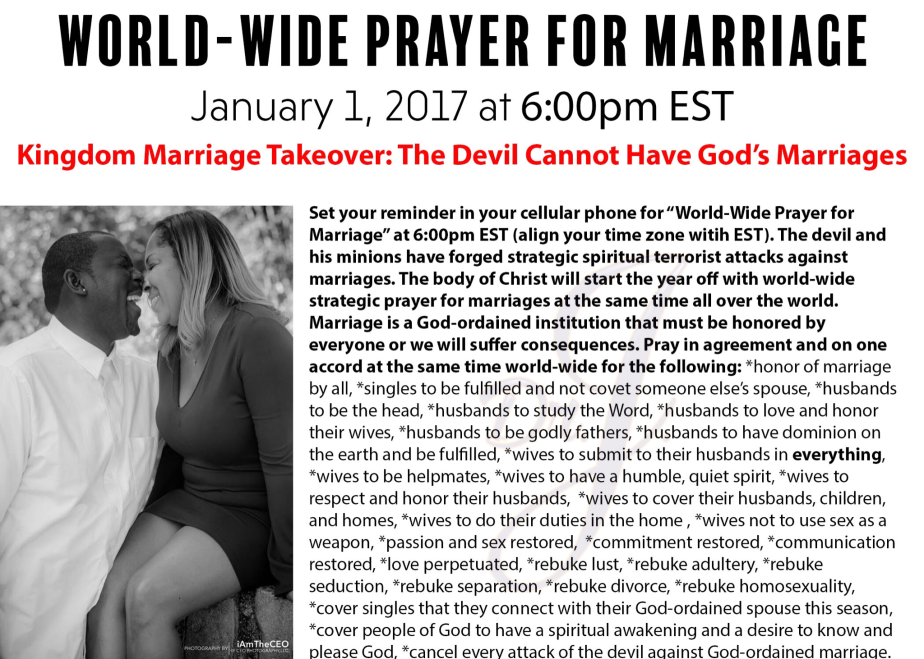 """World-Wide Prayer for Marriage"" by Dr.J."