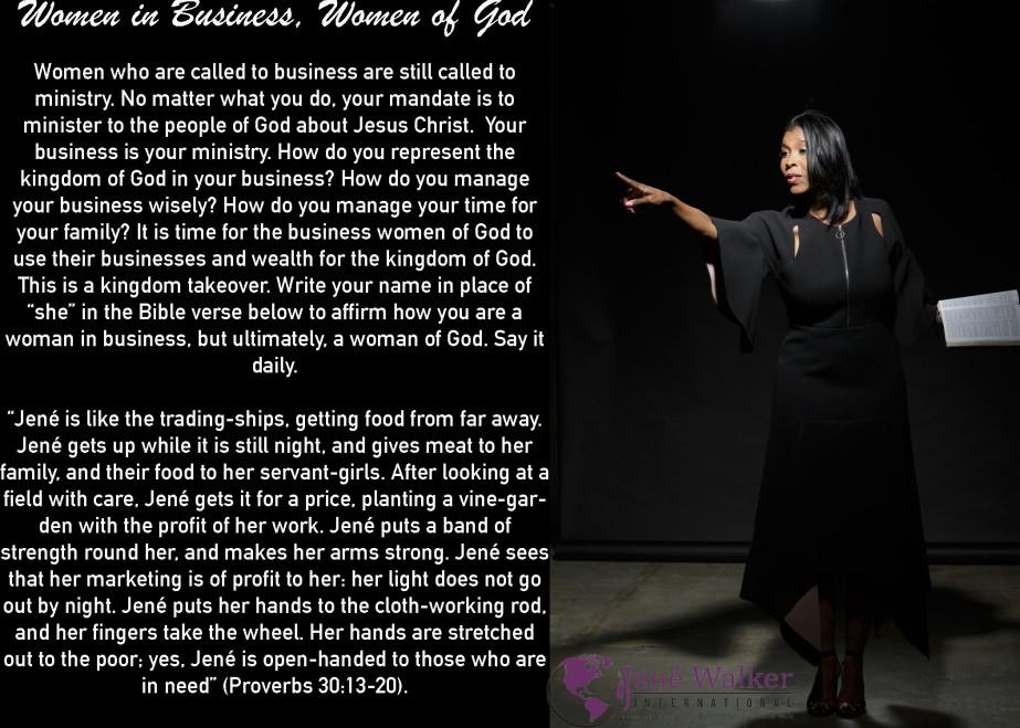 """""""Women in Business, Women of God Women"""" by JenéWalker"""