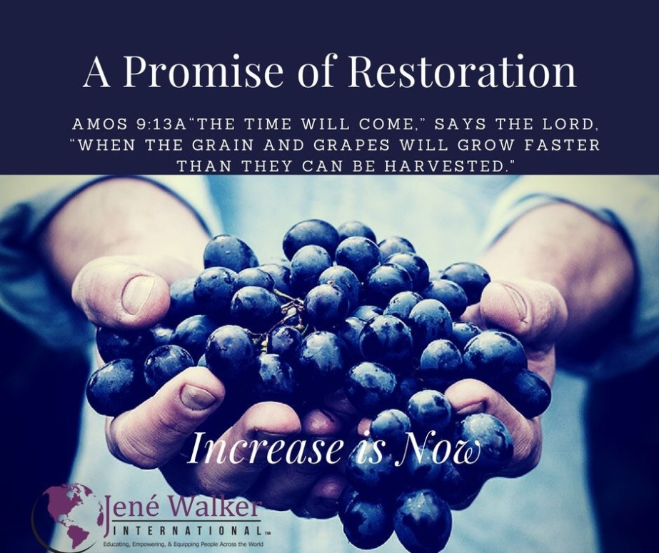 """A Time of Restoration"" by Dr. Jené Walker"